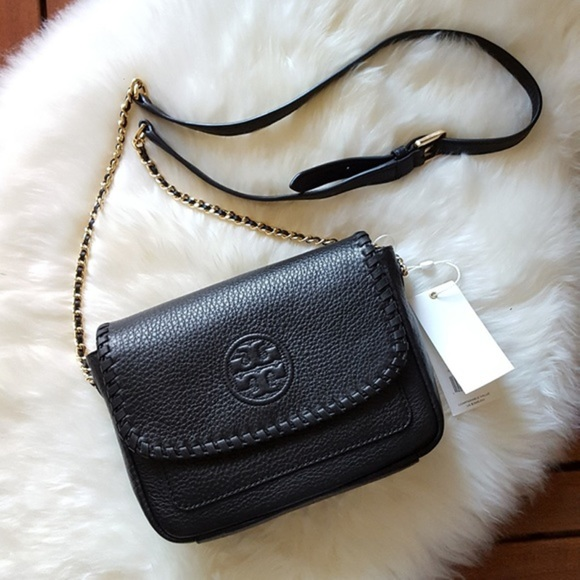 5f987826bcfb Tory Burch Marion Mini Black Crossbody