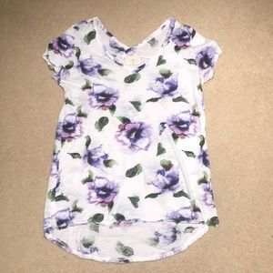 Anthropologie Floral Tee