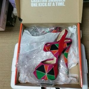Multi colored cute heels