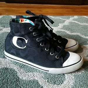 COACH Birch Black Sneakers Sz 6 1/2