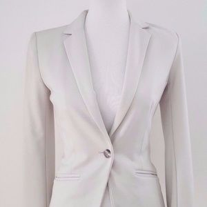 H&M Ivory Fitted Casual Blazer  Size 2
