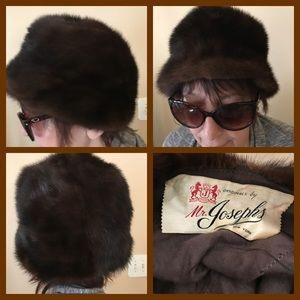 Vtg Genuine Mink Hat