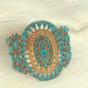 Jewelry - Blue and gold emblem bracelet