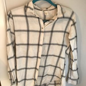 H&M black and white flannel sz 4