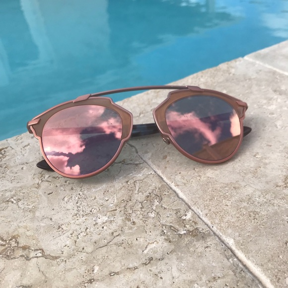 4d7dc648b528 Christian Dior Accessories - Authentic Dior So Real Rose Gold Sunglasses