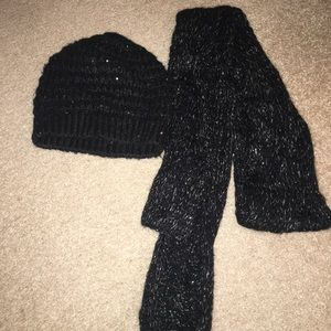 Hat in scarf