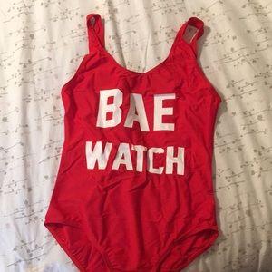 Bae watch one piece swim suit