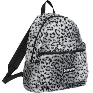 Supreme Fleece Backpack black and white
