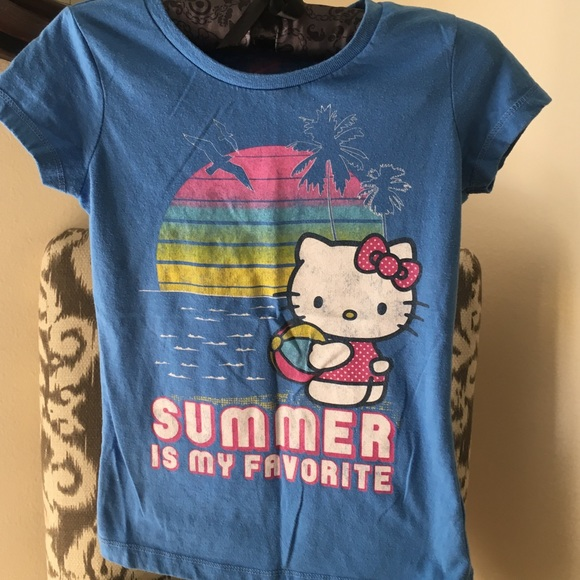 New HELLO KITTY Girl/'s Kid/'s T-shirt TEE S  Old Navy White