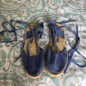 Nina Originals Espadrilles Sandals Blue Suede