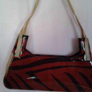 Francesco Biasia Zebra print purse