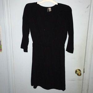 Divided (H&M) black long sleeved mini dress