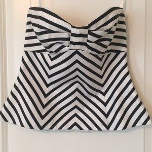 White House Black Market Striped Sleeveless Top