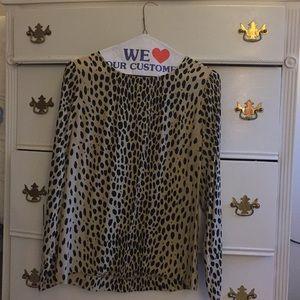 Jcrew size 2 leopard print top, 100% rayon
