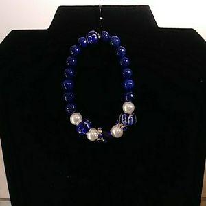 Jewelry - Glass Beaded Bracelet with Charms