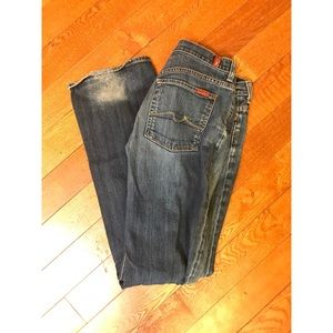 7 for all man kind button jeans