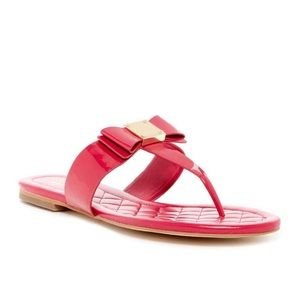 Cole Haan Tali Bow Flat Sandals in Pink
