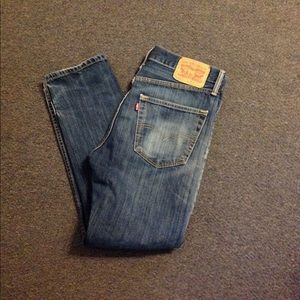 Levis 522 Slim Tapered Jeans 32 Distressed