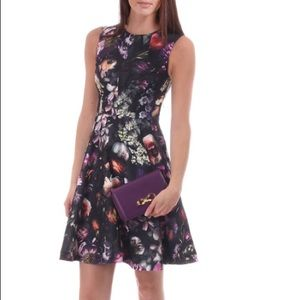 Ted baker inesia shadow floral skater dress
