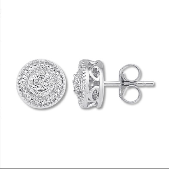 3da2527ea Kay Jewelers Jewelry   New Diamond Circle Stud Earrings   Poshmark