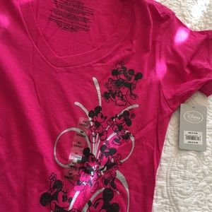 Pink t-shirt Disney Mickey and Minnie