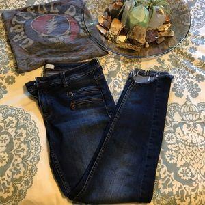 Zara Basic Z1975 Frayed Skinny Jeans