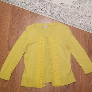 Yellow Sweater with Ruffles