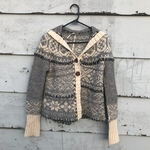 Free people knit hooded sweater