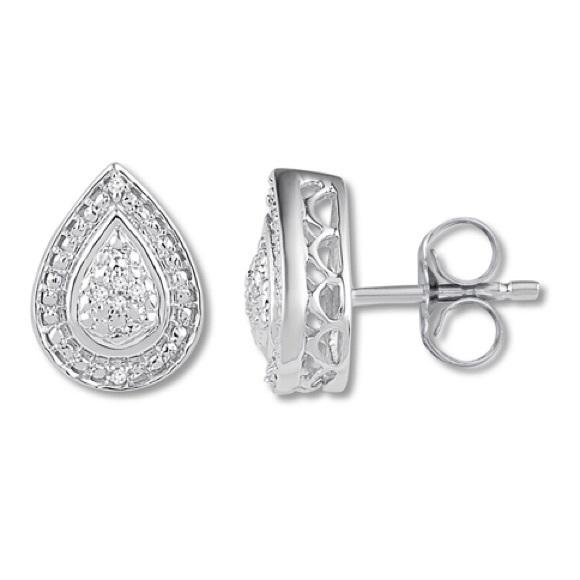 1bcd45398 Kay Jewelers Jewelry   New Diamond Teardrop Stud Earring   Poshmark