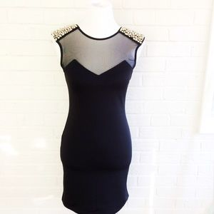 Urban Outfitters Sparkle & Fade black studs dress