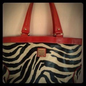 Dooney & Bourke Vintage Zebra Tote