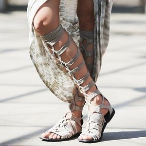 Free People grey gladiator sandals
