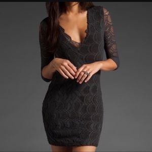 Nightcap riviera dress black