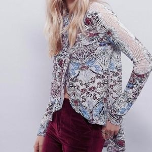 NWT - Free People Snow Combo Blouse
