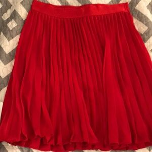 Express red skirt