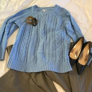 Old Navy cotton blend cable knit sweater