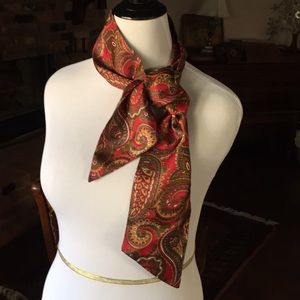 Vtg paisley scarf