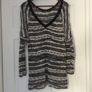 Free people chunky textured striped sweater