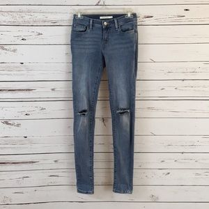 Levi's 710 Skinny Jeans with holes Size 25