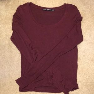 Brandy Melville burgundy long sleeve