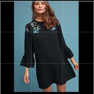 Anthropologie Allison Embroidered Dress