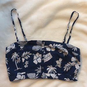 Tropical Pattern Bralette Top