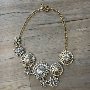 J. Crew Asymmetrical Jeweled Statement Necklace