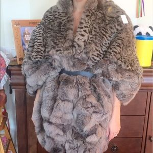 Authentic Vintage Fur Coat / Cape