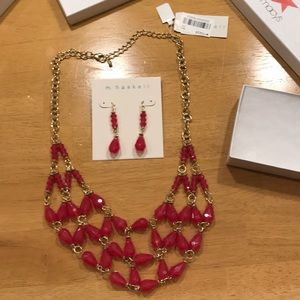 NWT Earrings and Necklace set.