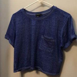 Forever 21 blue crop tee