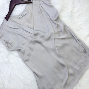 zara • silky flowy blouse