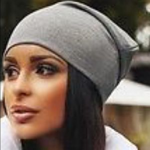 Black or dove grey slouch beanie cap