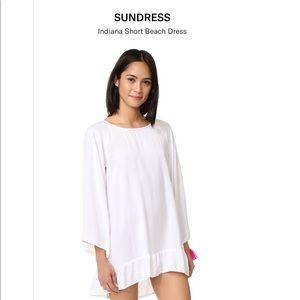 Sundress I️ndiana dress with pink fringe