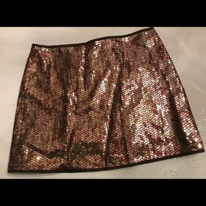 Holiday sequined skirt